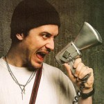 Mike Patton with bullhorn