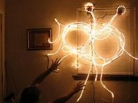 Flying Spaghetti Monster Christmas lights