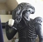 Alien on the London Underground