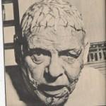 Lon Chaney Jr. as Frankenstein live on television