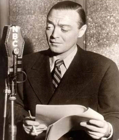 Peter Lorre with microphone