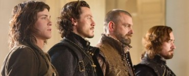 Logan Lerman, Luke Evans, Ray Stevenson and Matthew Macfadyen from The Three Musketeers 3D