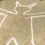 Satan chalk outline