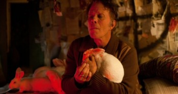 Tom Waits with bunnies from Seven Psychopaths