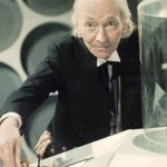 William Hartnell as The Doctor in the TARDI