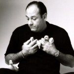 James Gandolfini and ducklings