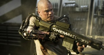 Matt Damon and railgun from Elysium