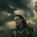 Tom Hiddleston as Loki and Chris Hemsworth as Thor in Thor: The Dark World 3D