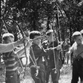 Boys Archery at Summer Camp