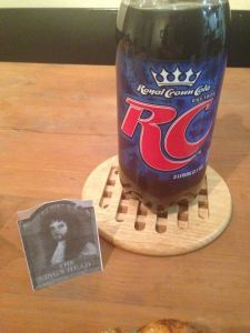 The King's Head: RC Cola. Brilliant.