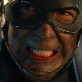Chris Evans as Captain America with a hurting brain in Avengers: Endgame