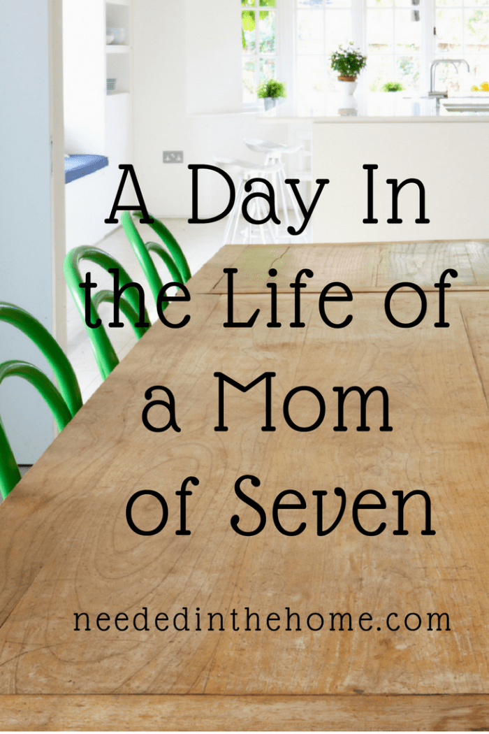 dining room table chairs window kitchen A Day In The Life Of A Mom Of Seven Kids
