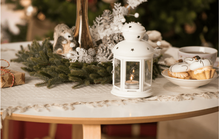 table decorations holiday centerpiece candle Host The Perfect Winter Soiree