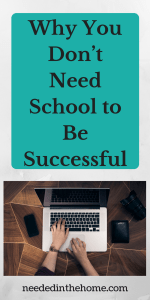 Why You Don't Need School to Be Successful