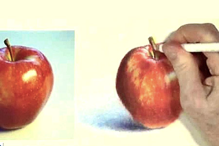 drawing an apple to look realistic