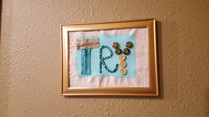 wall hanging of inspirational word try