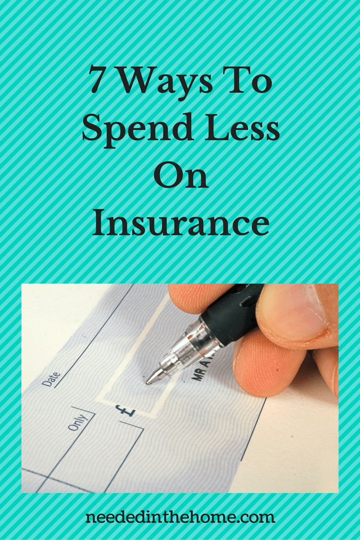 person writing a check 7 Ways To Spend Less On Insurance