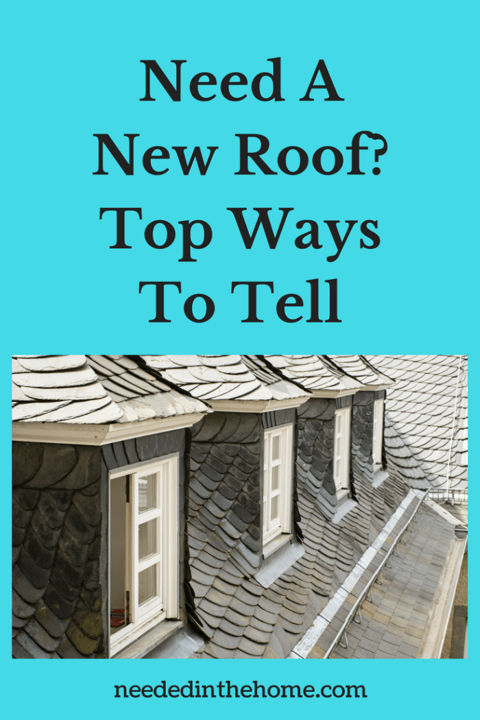 example of a roof that needs repair Top Ways to Tell if Your Home needs a New Roof from NeededInTheHome