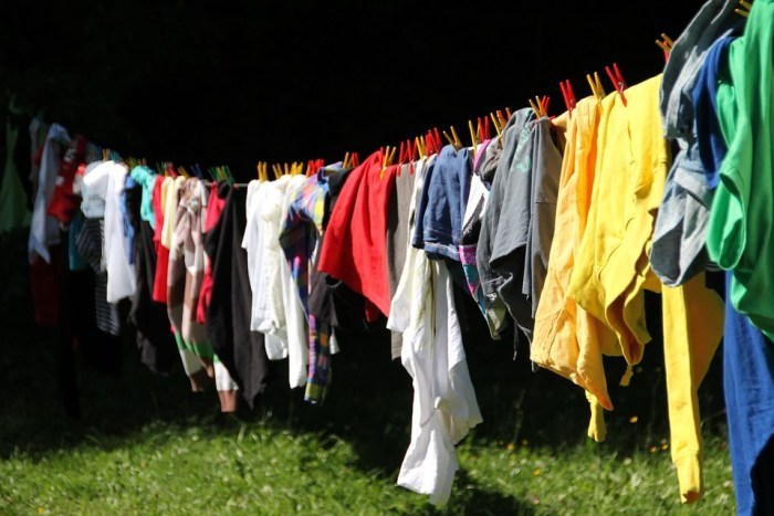 clothes hanging on a line Simple Ways To Save Money Around The Home