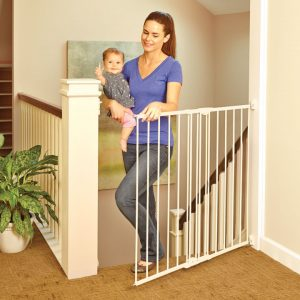 stair gate mom and baby open gate Attention, Parents To Be! How To Prepare Your Home For A New Arrival