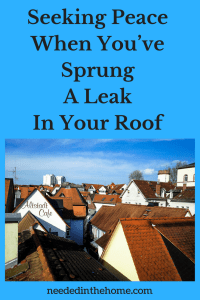 Seeking Peace When You've Sprung A Leak In Your Roof