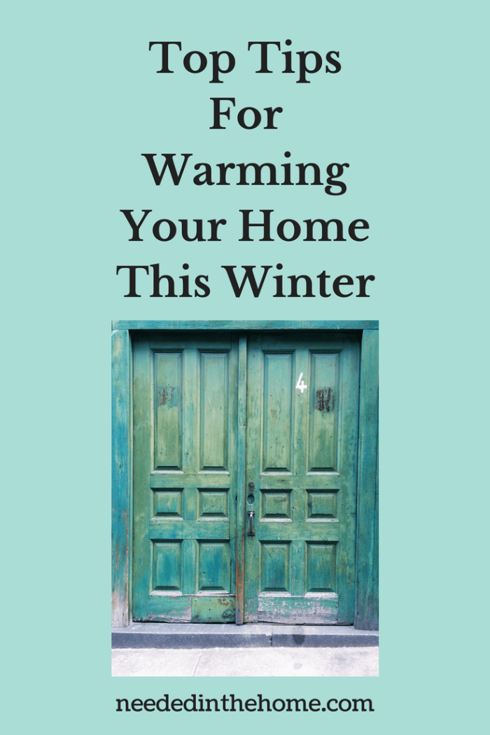 front door to home with cracks letting cool air in Top Tips For Warming Your Home This Winter from NeededInTheHome