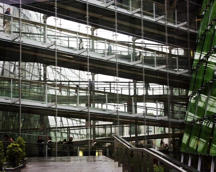 business building glass walls walkway plants your business is only as strong as where you run it
