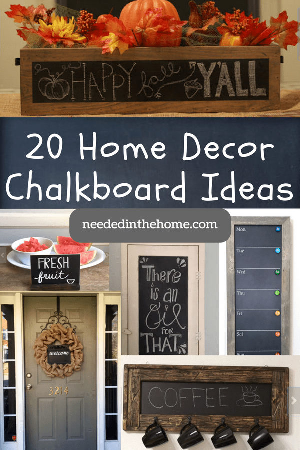 20 Unique Home Decor Chalkboard Ideas - NeededInTheHome on chalkboard wall kitchen dining, chalkboard kitchen cabinets, chalkboard fridge, chalkboard paint backsplash kitchen,