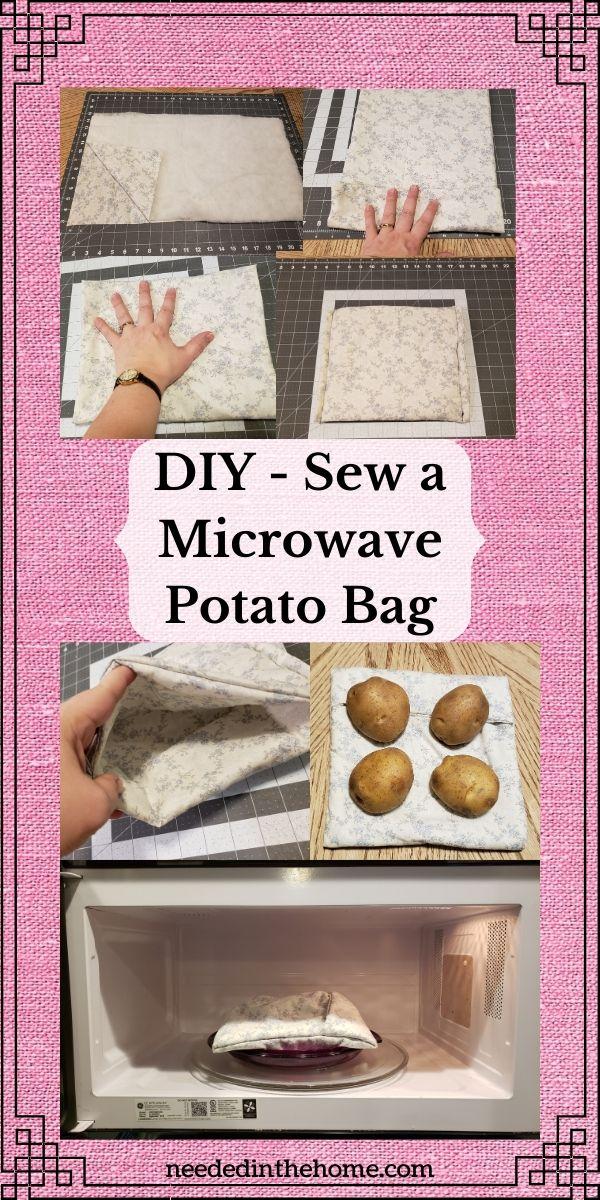 diy reusable microwave potato bag free