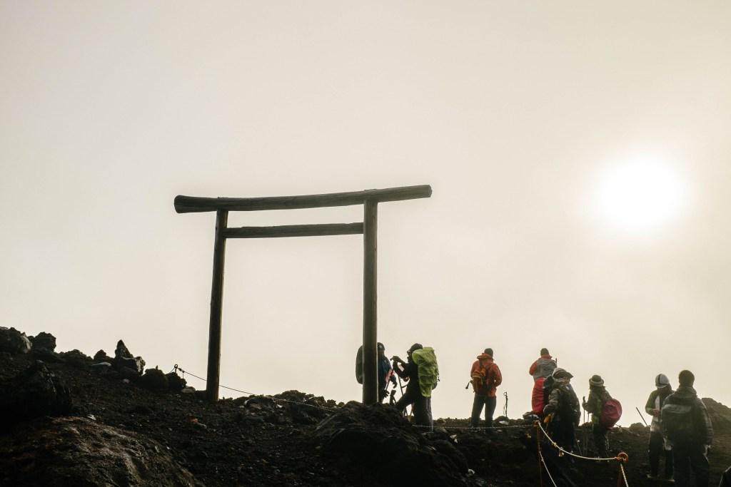 Mt. Fuji shrine.