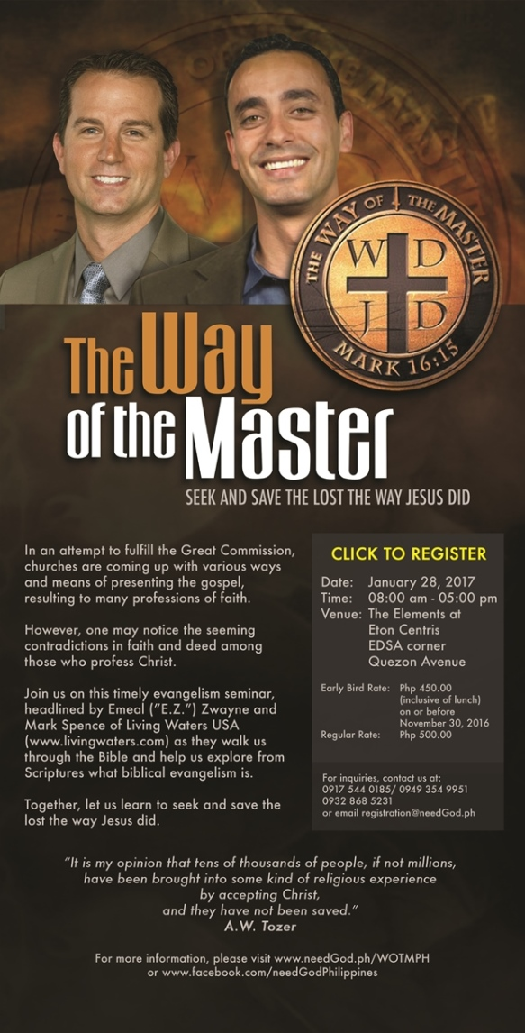 Invitation to The Way of the Master Seminar
