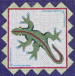 Gecko with border