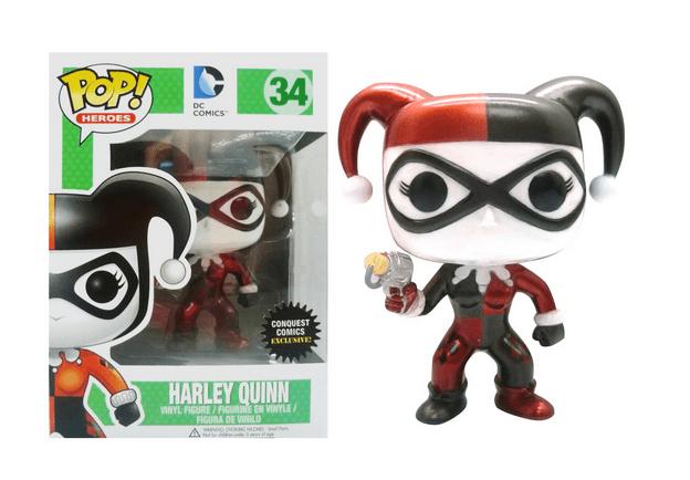 CONQUEST COMICS EXCLUSIVE Funko Pop DC Metallic Harley Quinn