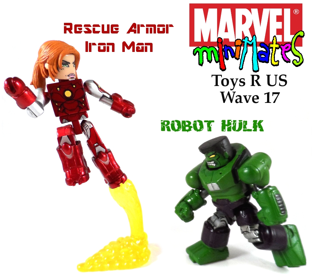 Marvel Minimates TRU Wave 17 Rescue Armor Iron Man & Robot Hulk
