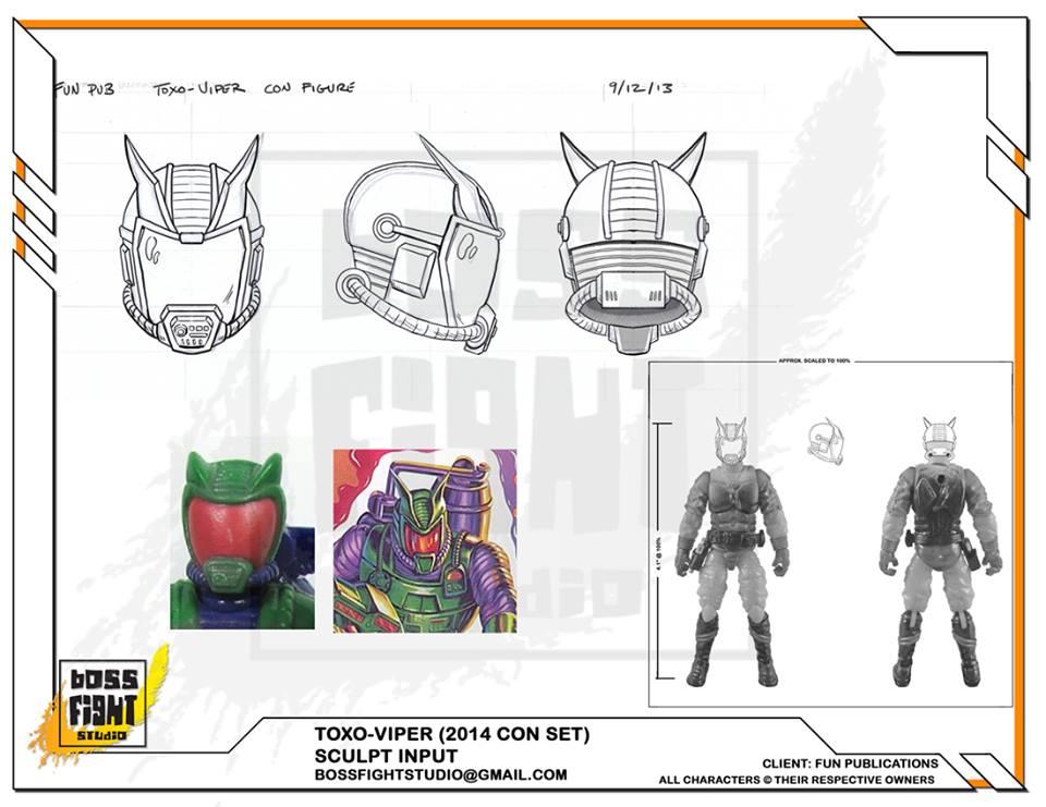 Boss Fight Presents Original Design Sheet For Toxo-Viper!
