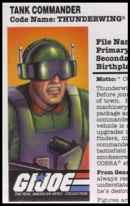 GI Joe 50th 04Thunderwing File Card