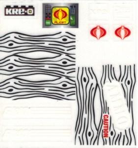 GI Joe Kreo Outpost Defense 02 Stickers