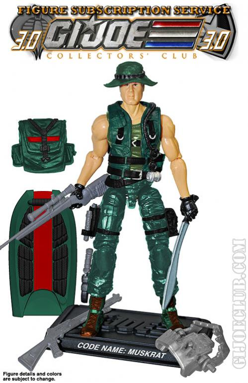 GI Joe 1988 Muskrat Accessory Swamp Skimmer Board