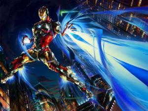 Play-Arts-Variant-Marvel-Iron-Man-Packaging-Illustration