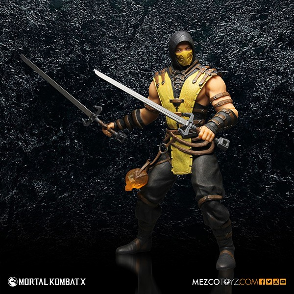 Mezco Presents Mortal Kombat X 12inch Scorpion Figure Needless