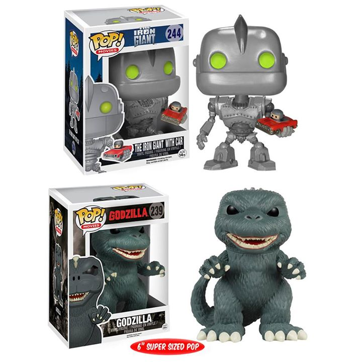 Funko Pops Godzilla & The Iron Giant