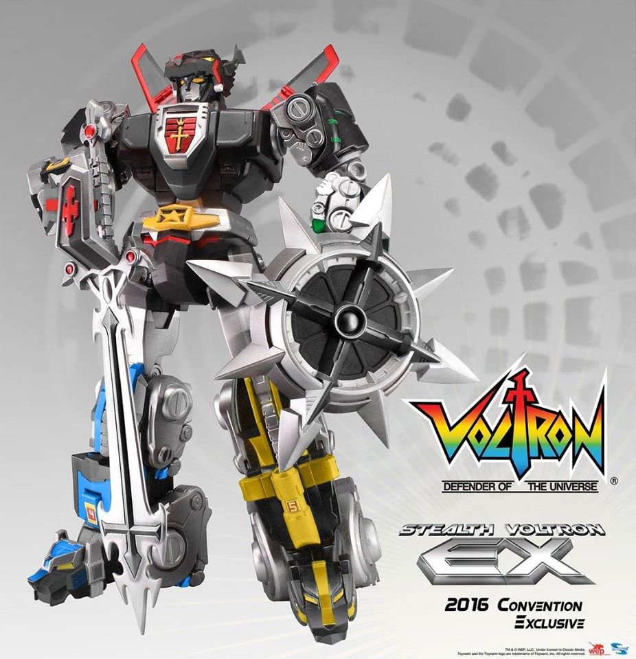 Toynami Exclusive SDCC Stealth Voltron EX