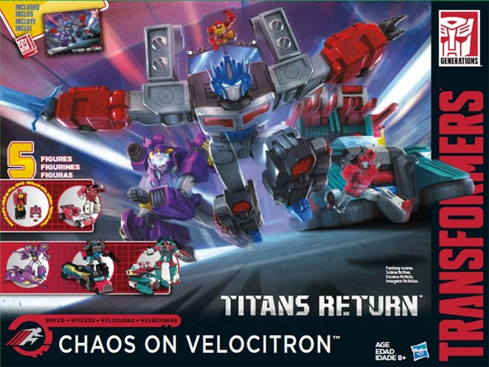 Official Images of Chaos on Velocitron Transformer box set