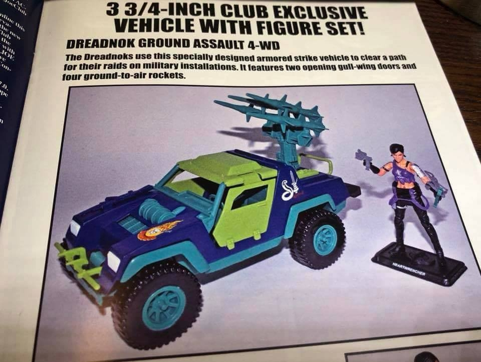 G.I.Joe Collectors Club Heartwrencher And Dreadnok Stinger 4×4
