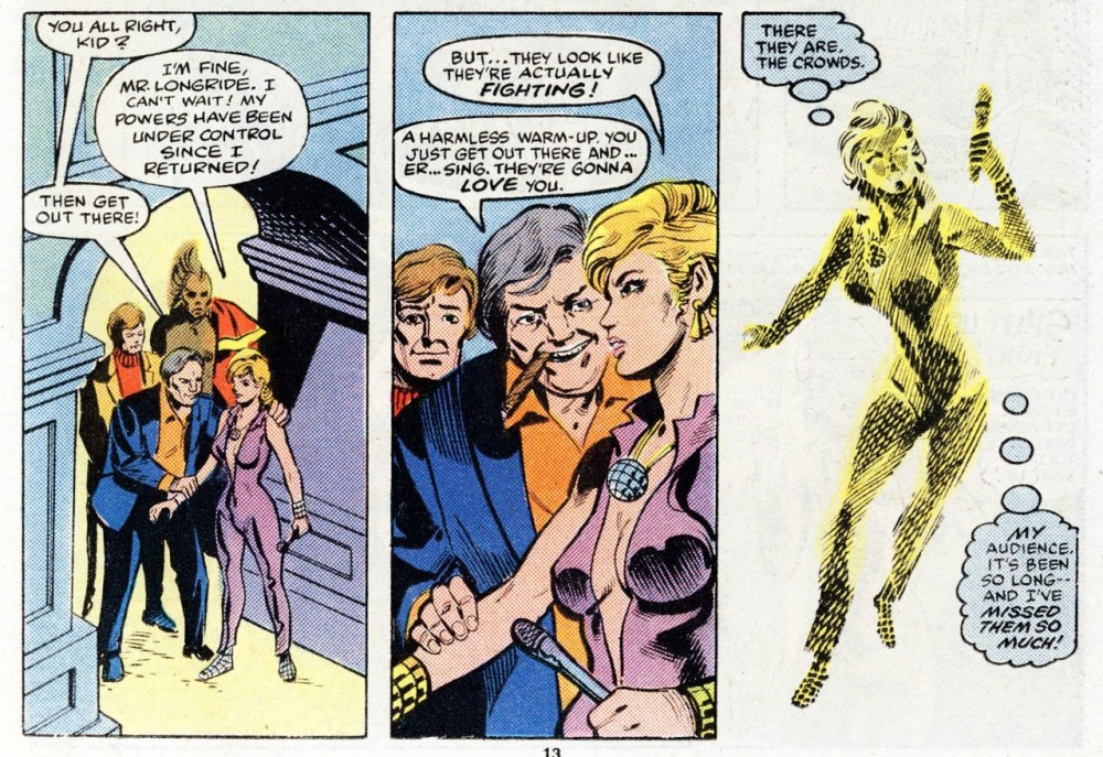 Dazzler back in her original outfit