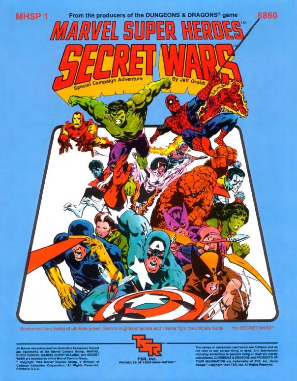 Marvel Super Heroes RPG Secret Wars – Shall We Play A Game?