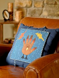 Free pattern: Applique pillow topper