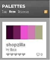Partial screen shot of ColourLovers site