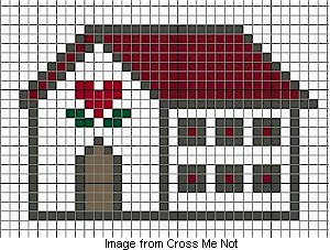 Free Cross Stitch Chart Country House Needle Work