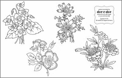 Free patterns: Flowers galore